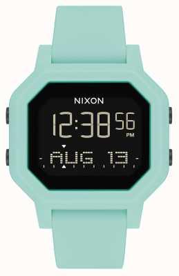 Nixon 警笛声|浅绿色|数字|绿松石硅胶表带 A1311-2930-00