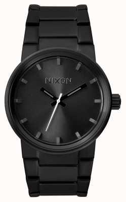 Nixon 大炮 全黑 黑色ip钢手链 黑色表盘 A160-001-00