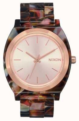 Nixon 醋酸盐柜|玫瑰金/粉红色乌龟|玫瑰金表盘 A327-3233-00
