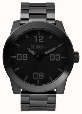 Nixon 下士|全黑|黑色ip钢手链|黑色表盘 A346-001-00