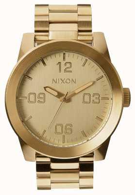 Nixon 下士|全金|黄金ip钢手链|金表盘 A346-502-00