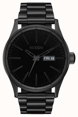 Nixon 哨兵SS |全黑/黑色|黑色ip钢手链|黑色表盘 A356-1147-00