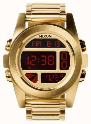 Nixon 单位ss  全金 数字 黄金ip钢手链  A360-502-00