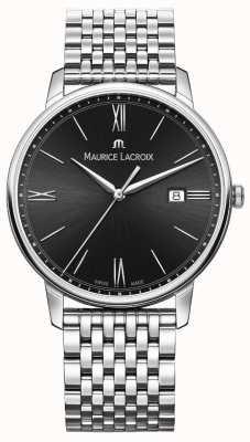 Maurice Lacroix 男士eliros |不锈钢手链|黑色表盘 EL1118-SS002-310-2