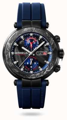 Michel Herbelin 纽波特碳纤维|蓝色硅胶表带|碳盒 288/CN45CB
