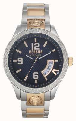 Versus Versace |男装现实两音钢手链|蓝色表盘| VSPVT0920