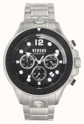 Versus Versace 男子伏打vs |不锈钢手链|黑色表盘 VSPVV0420