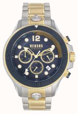 Versus Versace 男子伏打vs |两音钢手链|蓝色表盘 VSPVV0520