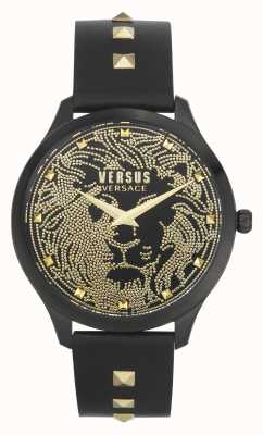 Versus Versace |女式| domus |黑色皮革表带|黑色表盘| VSPVQ0520