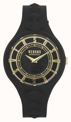 Versus Versace 女子火岛|黑色硅胶表带|黑色表盘 VSP1R1020