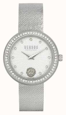 Versus Versace |女式| lea |不锈钢|网眼手链|银表盘| VSPEN1420