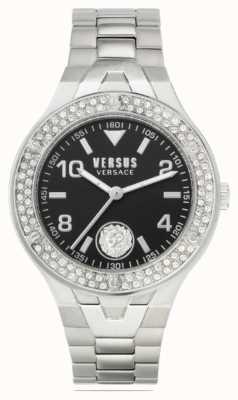 Versus Versace 女士vittoria |不锈钢手链|黑色表盘 VSPVO0520