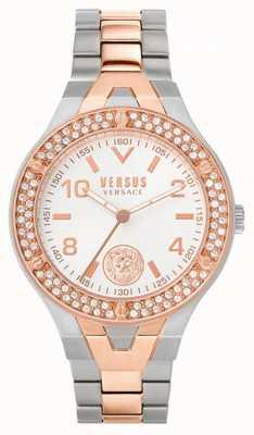 Versus Versace 女士vittoria |两音钢手链|白色表盘 VSPVO0620