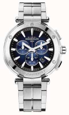 Michel Herbelin 纽波特男士计时码表|不锈钢手链| 37688/B35