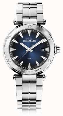 Michel Herbelin 男士新港|不锈钢手链|蓝色表盘 12288/B15