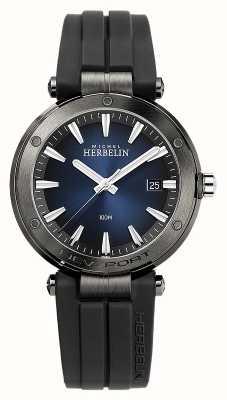 Michel Herbelin 男士新港|黑色橡胶表带|蓝色表盘 12288/G15CA