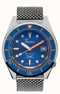 Squale 1521海洋网|蓝色表盘|不锈钢网状手链 1521OCN-CINSS20