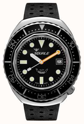 Squale 2002a黑色圆点|黑色热带表带|黑色表盘 B083401-CINTRB22