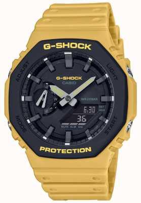 Casio | g-shock |碳芯|分层表圈|黄色橡胶表带| GA-2110SU-9AER