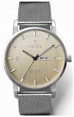 Triwa 男士桦木 klinga 钢网|香槟色表盘 KLST108-ME021212
