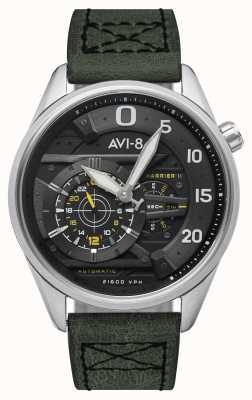 AVI-8 小贩(Hawker Harrier II)-黑桃王牌|自动|绿色皮革表带 AV-4070-01