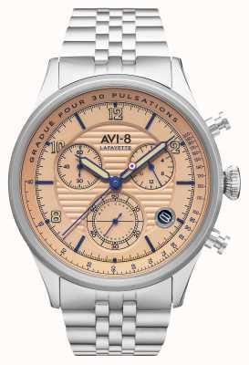 AVI-8 Flyboy拉斐特 计时码表 不锈钢手链 AV-4076-44