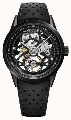 Raymond Weil Freelancer 42mm骨架黑色橡胶表带 2785-BKR-20000