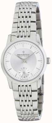 Dreyfuss 女士银不锈钢手链手表 DLB00001/02