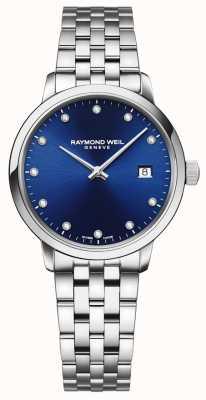 Raymond Weil 托卡塔| 11钻石蓝色表盘|不锈钢手链 5985-ST-50081