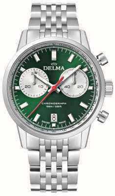 Delma 大陆计时码表|不锈钢手链|绿色表盘 41701.704.6.141