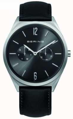 Bering 经典收藏|黑色皮革表带|黑色表盘 17140-402