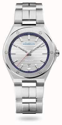 Michel Herbelin 卡玛拉帽|自动|银表盘|不锈钢手链 1645/B42