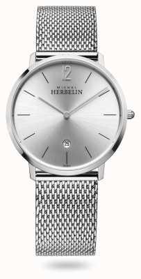 Michel Herbelin 城市|不锈钢网状手链|银色表盘 19515/11B