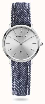 Michel Herbelin 城市|蓝色牛仔背带|银色表盘 16915/11JN