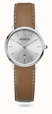 Michel Herbelin 城市|银表盘|棕色皮革表带 16915/11GO