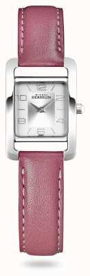 Michel Herbelin 大道|粉色皮革表带|银色表盘 17437/21ROZ