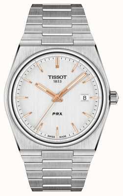Tissot 男士PRX 40毫米石英银表盘 T1374101103100