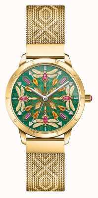 Thomas Sabo |魅力与灵魂|金色网眼手链|宝石蜻蜓| WA0369-264-211-33