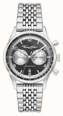Thomas Sabo |叛逆于心|男装不锈钢手链|黑色表盘| WA0375-201-203-40