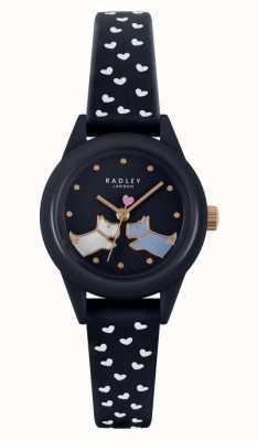 Radley 看它! |女式海军硅胶表带|海军表盘 RY21262