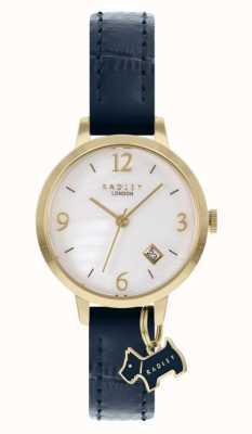 Radley |女式|海军皮革表带|白珍珠贝母表盘| RY21212