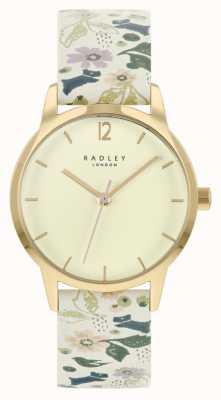 Radley 女士白色碎花皮革表带|香槟色表盘 RY21232A