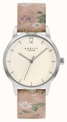 Radley 女士粉红色花朵皮革表带|奶油色表盘 RY21231A