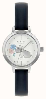 Radley 女士蓝色皮革表带|白色表盘 RY21237A