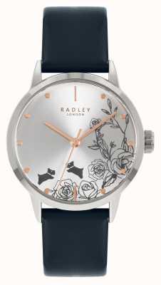 Radley |女式|蓝色皮革表带|银表盘| RY21241A