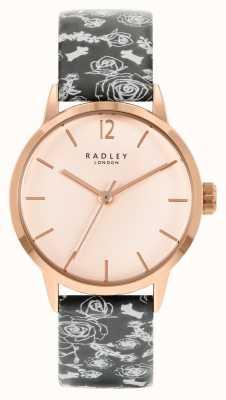 Radley 女士黑色图案表带|玫瑰表盘 RY21246A