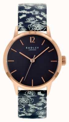 Radley 女士黑色皮革表带|黑色表盘 RY21250A