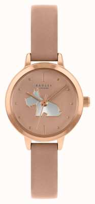 Radley 女士粉红色皮革表带|粉色表盘 RY21254A