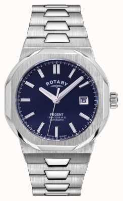 Rotary 男士摄政自动|蓝色表盘|不锈钢手链 GB05410/05