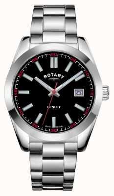 Rotary 男士亨利|黑色表盘|不锈钢手链 GB05180/04